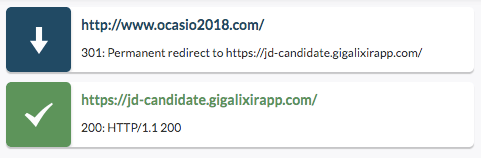 ocasio dev redirect