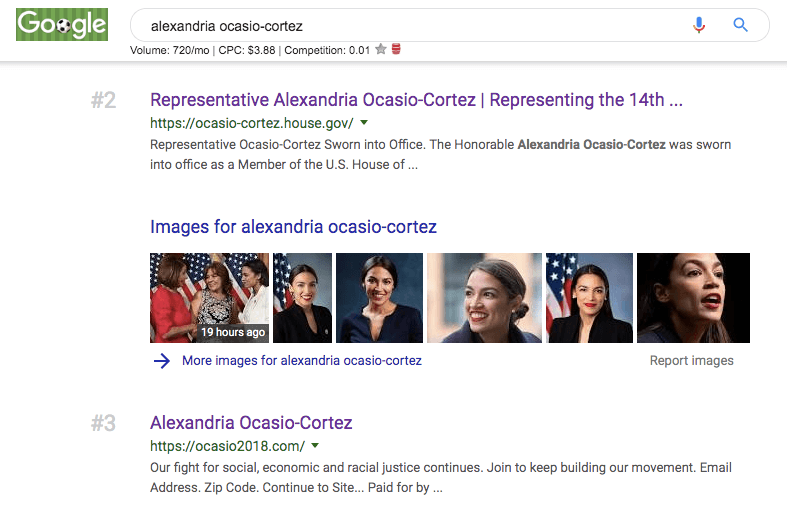 aoc seo ranking third