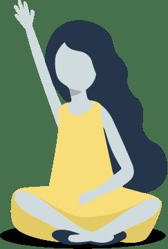 Girl waving