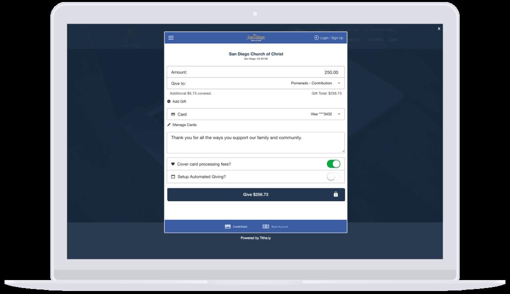 Tithe-ly SEO Case Study - Dashboard screenshot