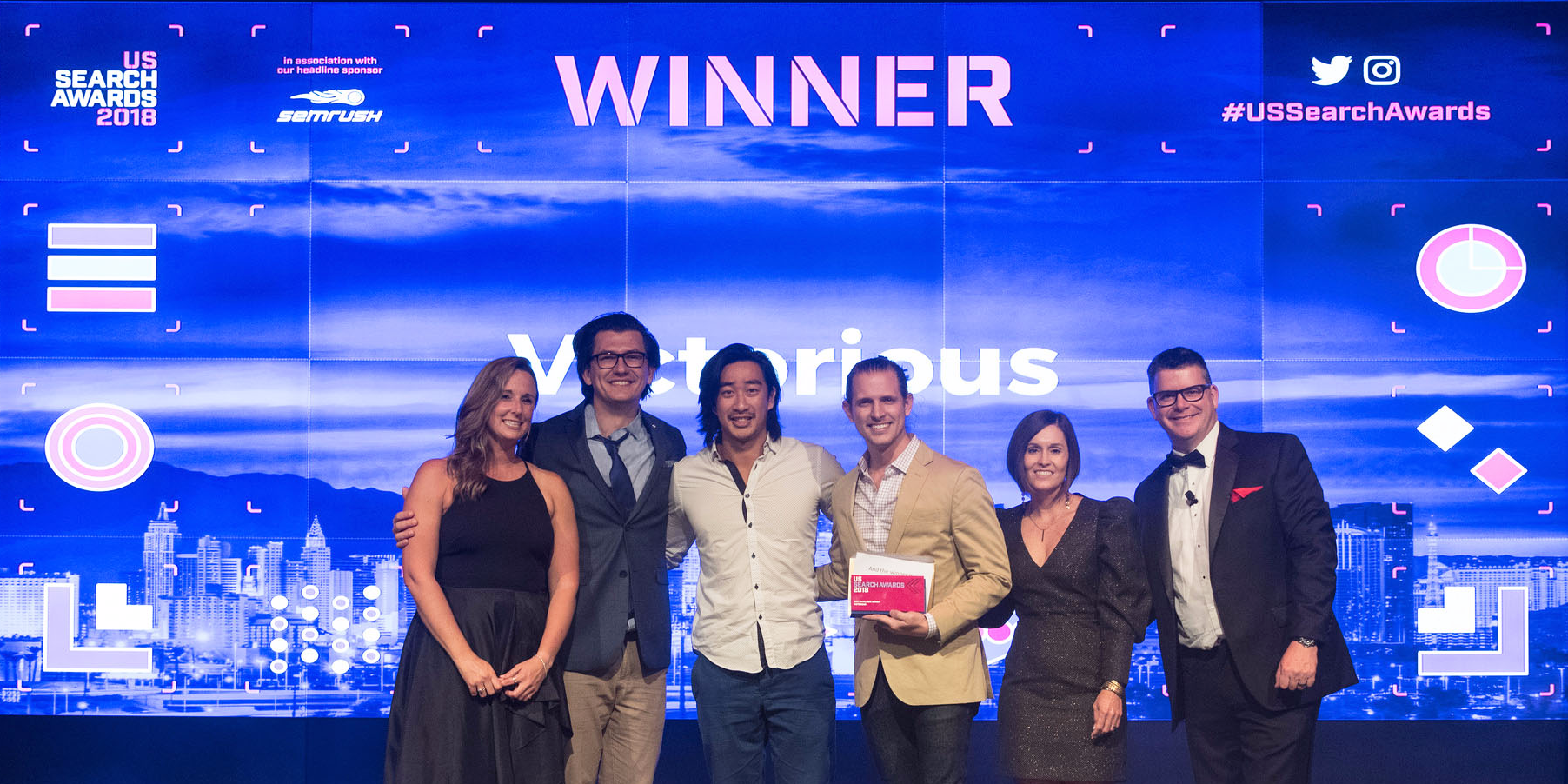 Victorious at the US Search Awards