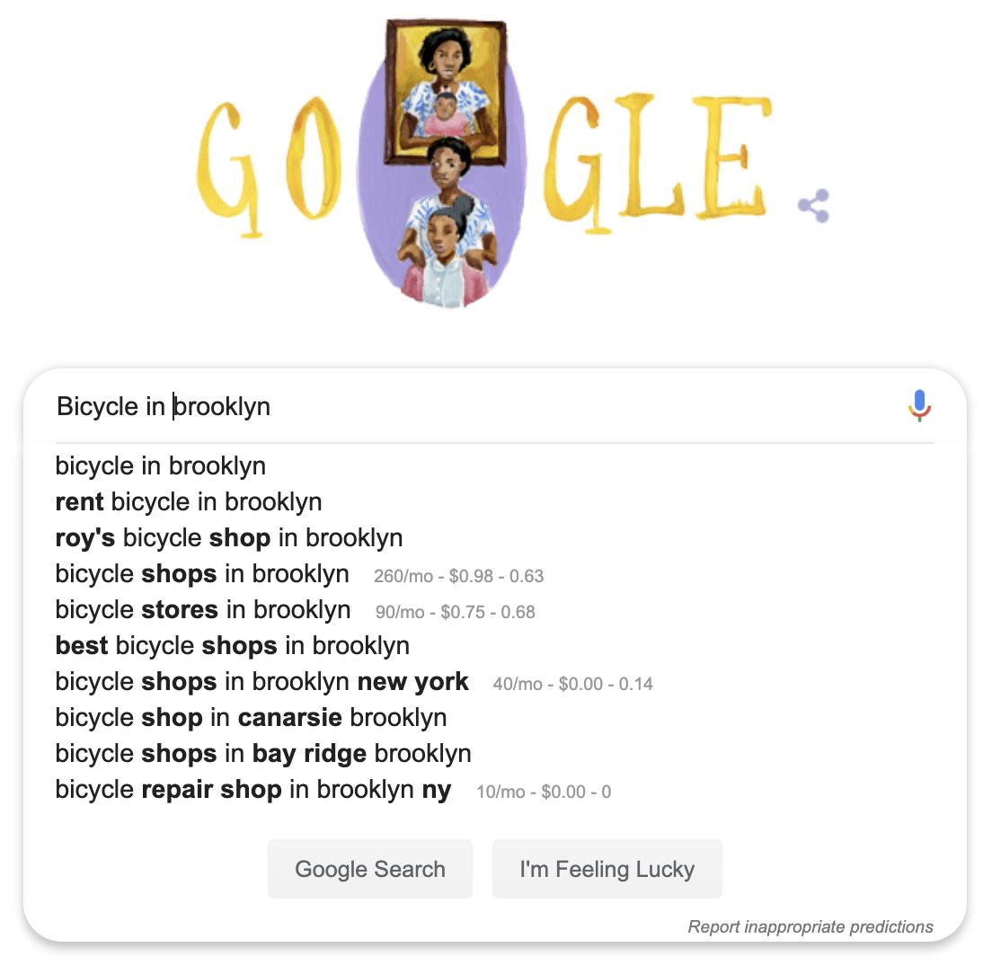 local keyword search