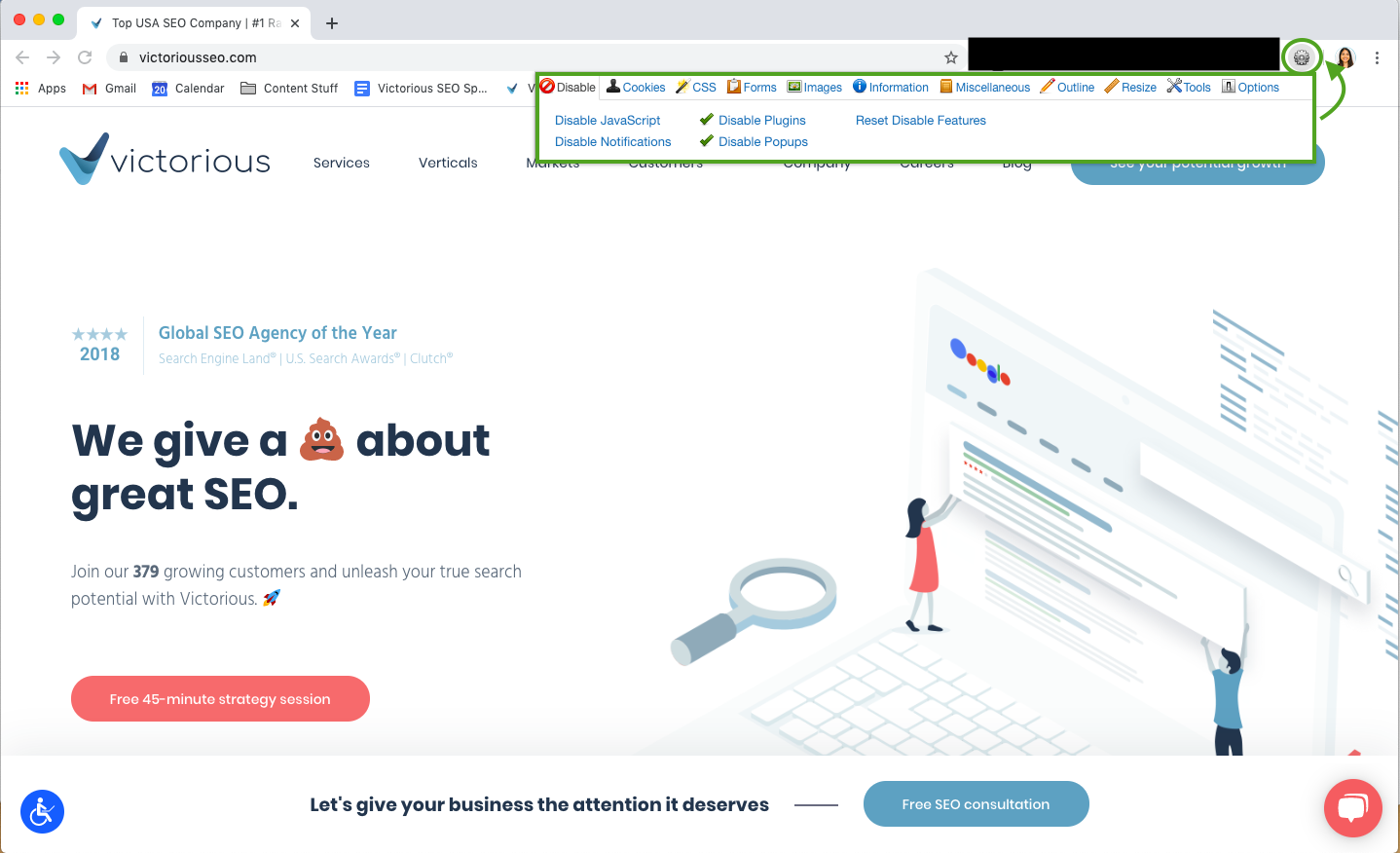 SEO Chrome Extension- Web Developer