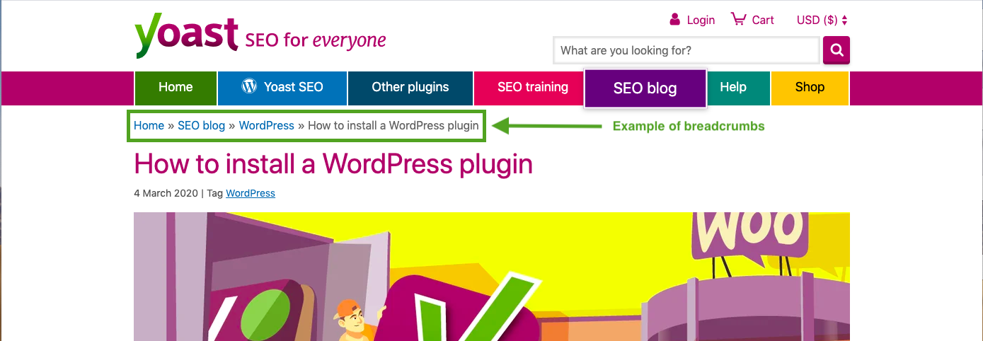 WordPress Plugin- Yoast Breadcrumbs