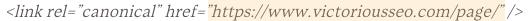 突出顯示規範URL的規範標籤的示例