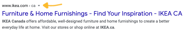 Canadian Google search results for Ikea
