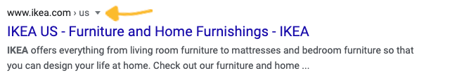 U.S. Google search results for Ikea