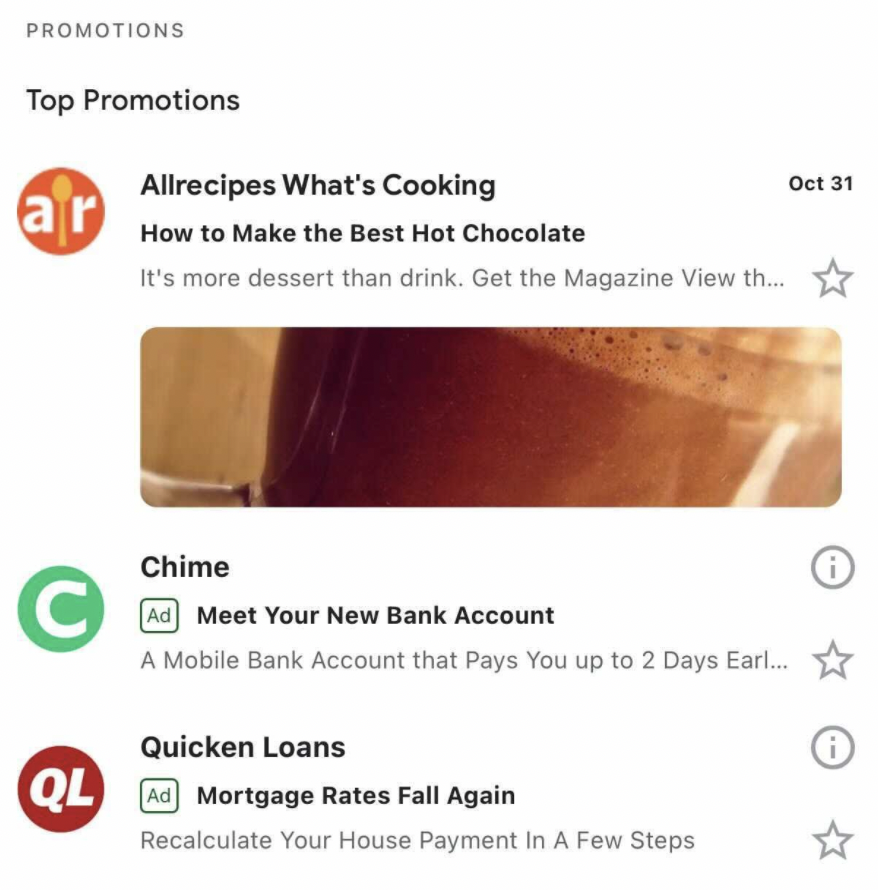Gmail ad example
