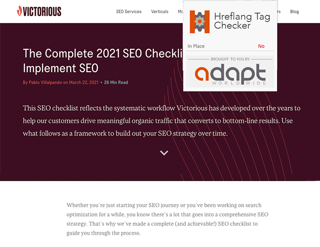 seo for chrome extension adapt
