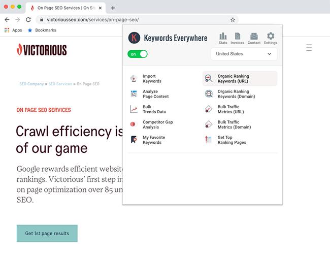 best seo chrome extensions keywords everywhere