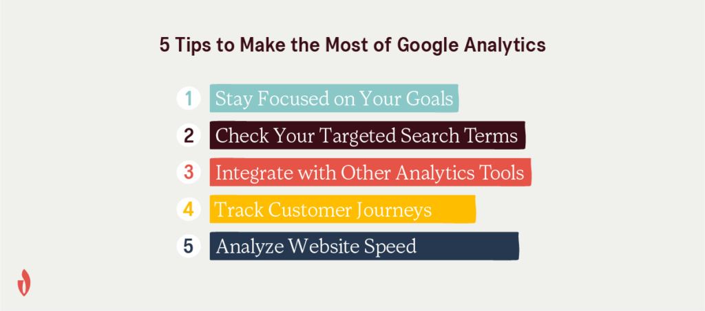 5 tips for getting started with Google analytics
