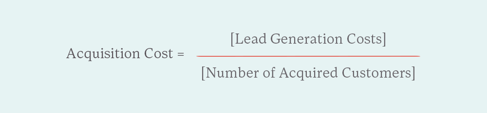 formula for cost of customer acquisition