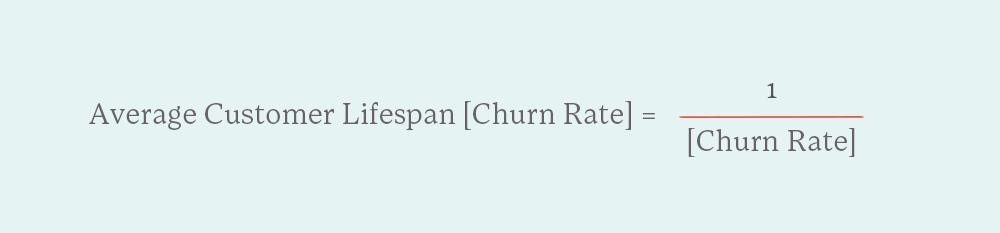 equation for average customer lifespan
